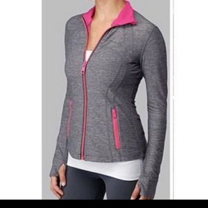 Lululemon define jacket heathered grey/pink